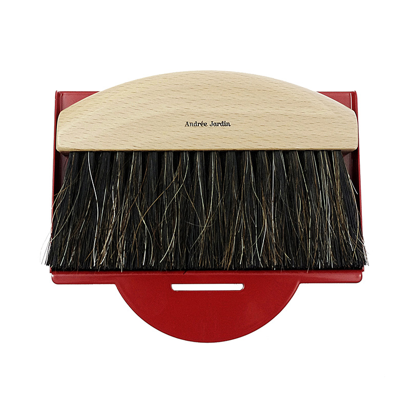 AJ/GIFTBOX TABLE BRUSH&DUSTPAN RED