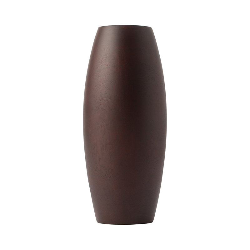 MANGO WOOD VASE M1214/S BROWN