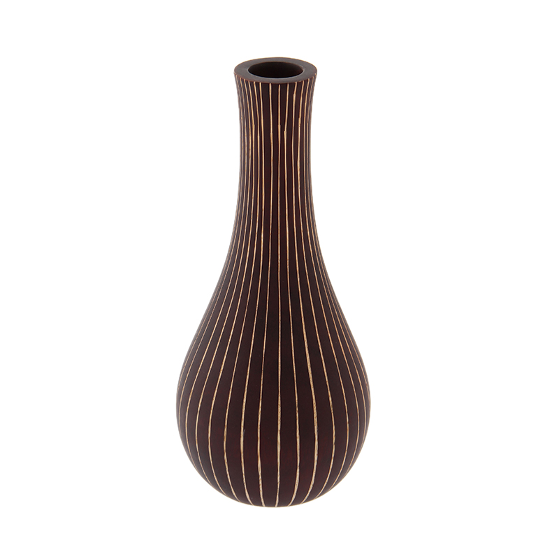 MANGO WOOD VASE ARC76S BROWN