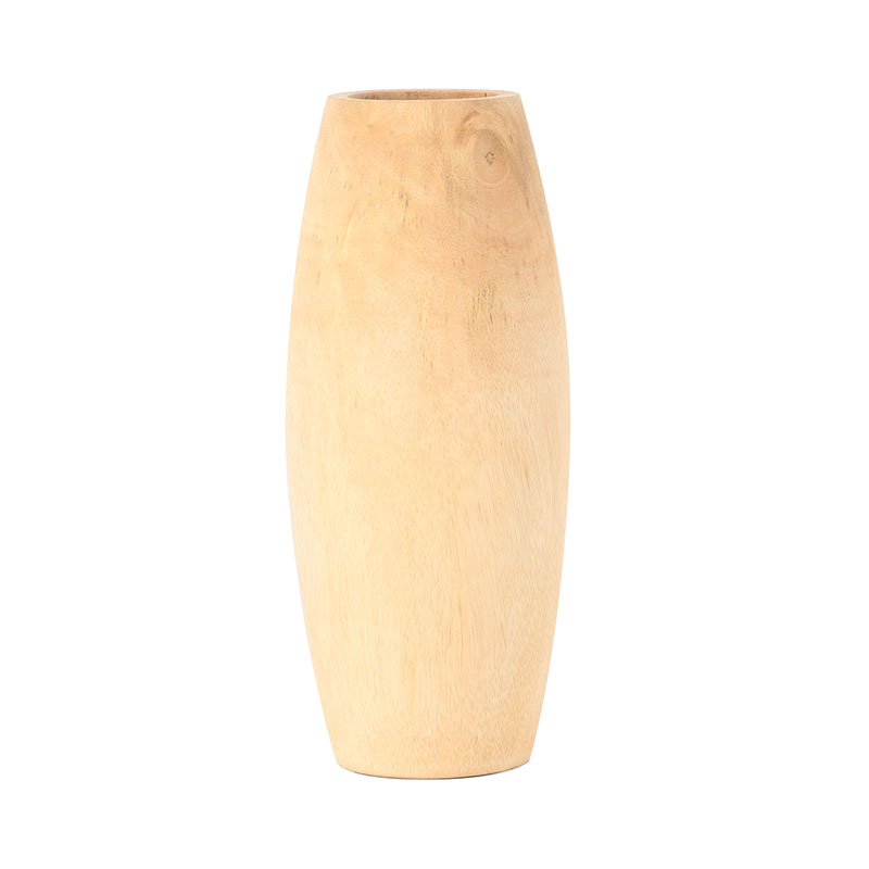 M1214/S MANGO WOOD VASE SANDED NATURAL