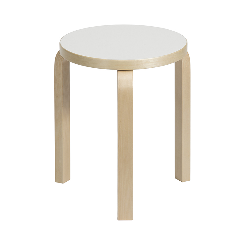 STOOL 60 BIRCH / WHITE LAMINATE