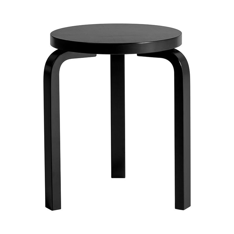 071151 ARTEK STOOL 60 BLACK LACQUER
