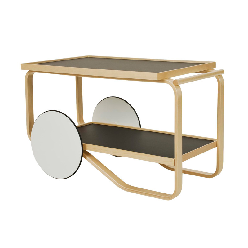 TEA TROLLEY 901 BLACK LAMINATE