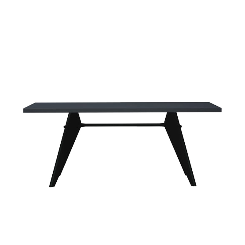 EM TABLE L1800 HPL ASPHALT / DEEP BLACK BASE