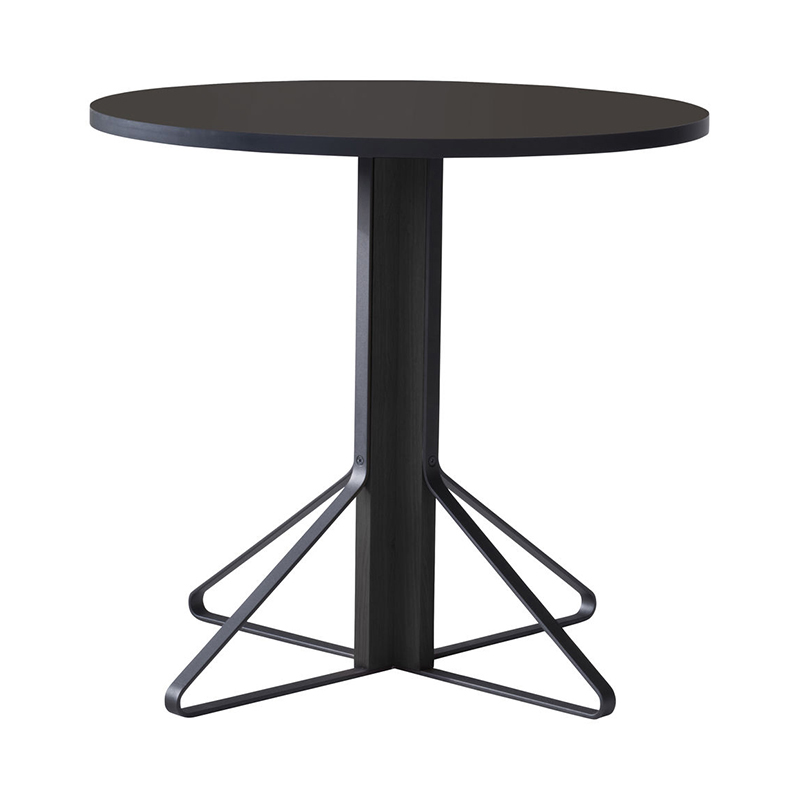 KAARI TABLE REB003 BLACK LINOLEUM BLACK OAK