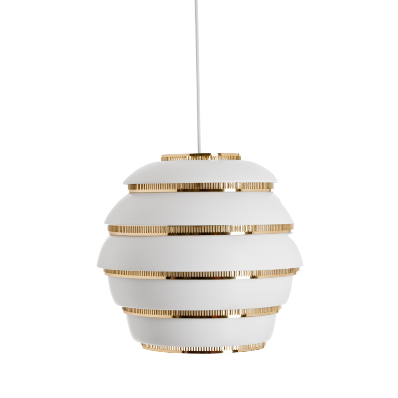 A331 PENDANT LAMP BEEHIVE WHITE/BRASS