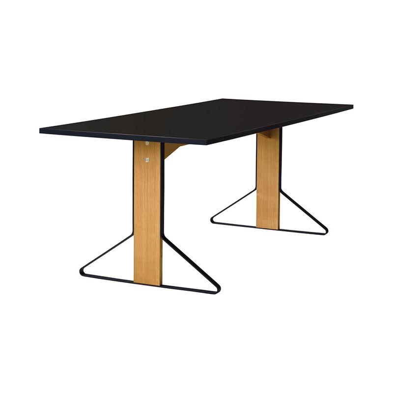 KAARI TABLE REB001 BLACK LAMINATE NATURAL OAK