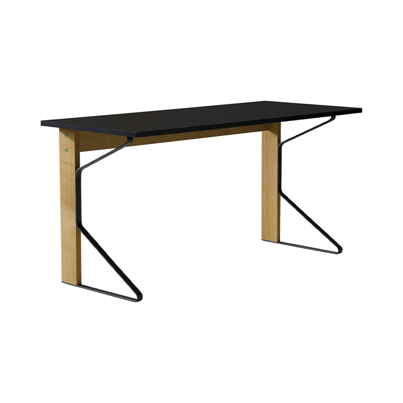 KAARI DESK REB005 BLACK LAMINATE NATURAL OAK