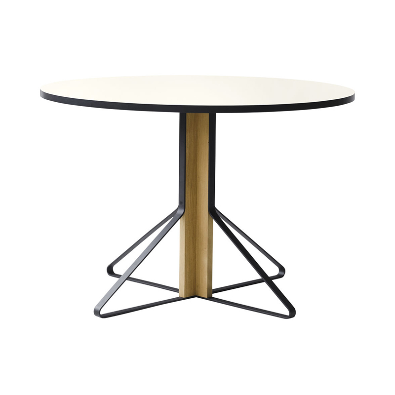 KAARI TABLE REB004 WHITE LAMINATE NATURAL OAK