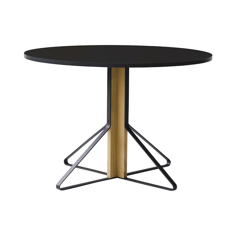 KAARI TABLE REB004 BLACK LAMINATE NATURAL OAK