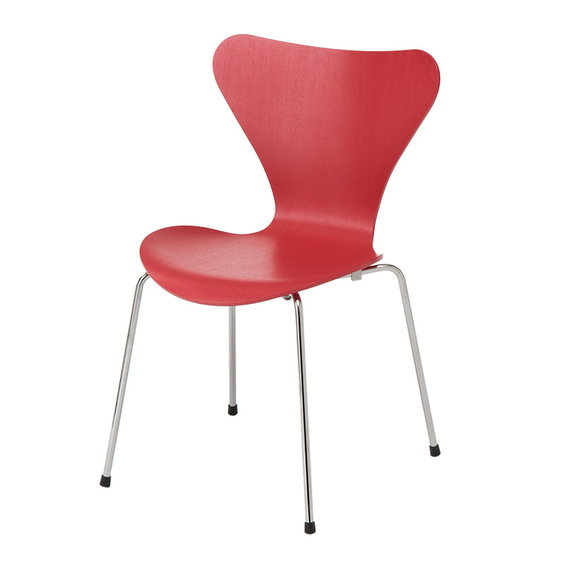 SERIES 7 CHAIR COLOURED ASH OPIUM RED