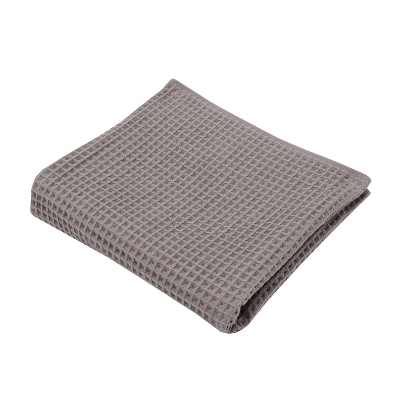 THE CONRAN SHOP ORIGINAL WAFFLE&GAUZE BATH TOWEL DARK GREY