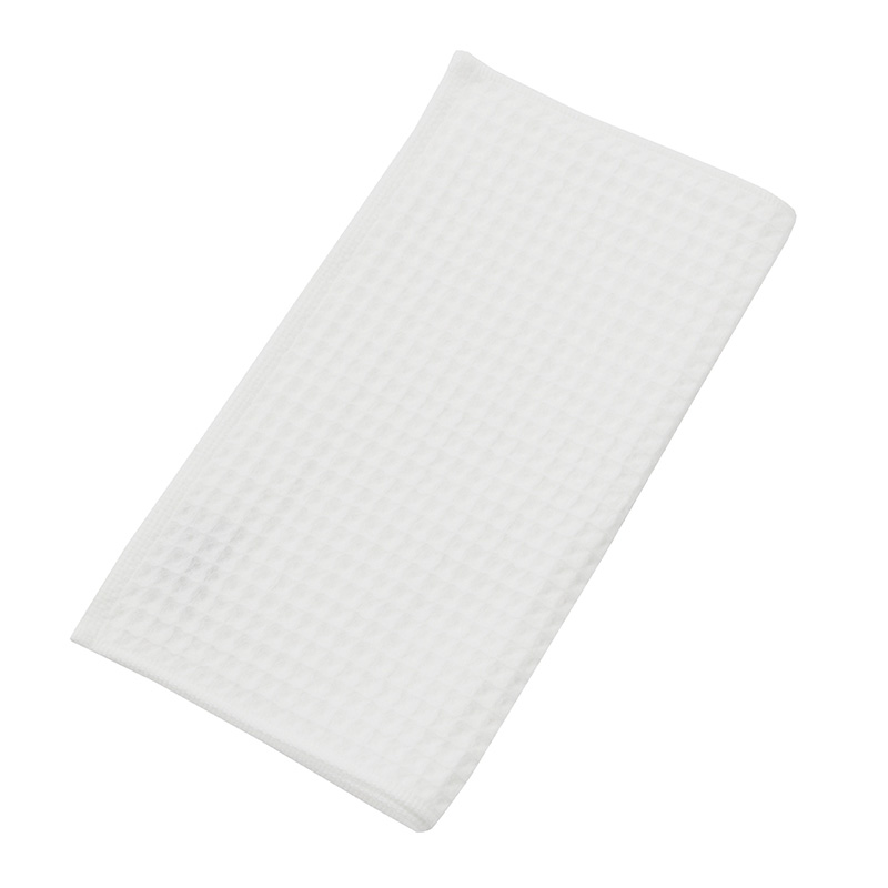 THE CONRAN SHOP ORIGINAL WAFFLE&GAUZE FACE TOWEL WHITE