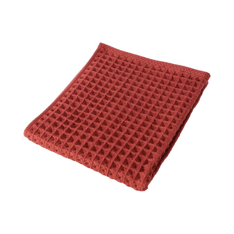 CONRAN WAFFLE&GAUZE HAND TOWEL 34X35 SANGRIA RED