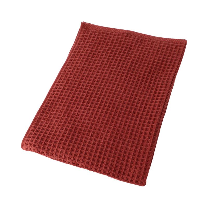 CONRAN WAFFLE&GAUZE BATH TOWEL 68X130 SANGRIA RED
