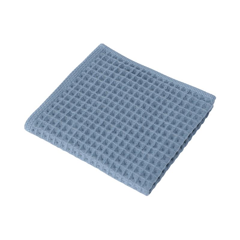 CONRAN WAFFLE&GAUZE HAND TOWEL BLUE GREY