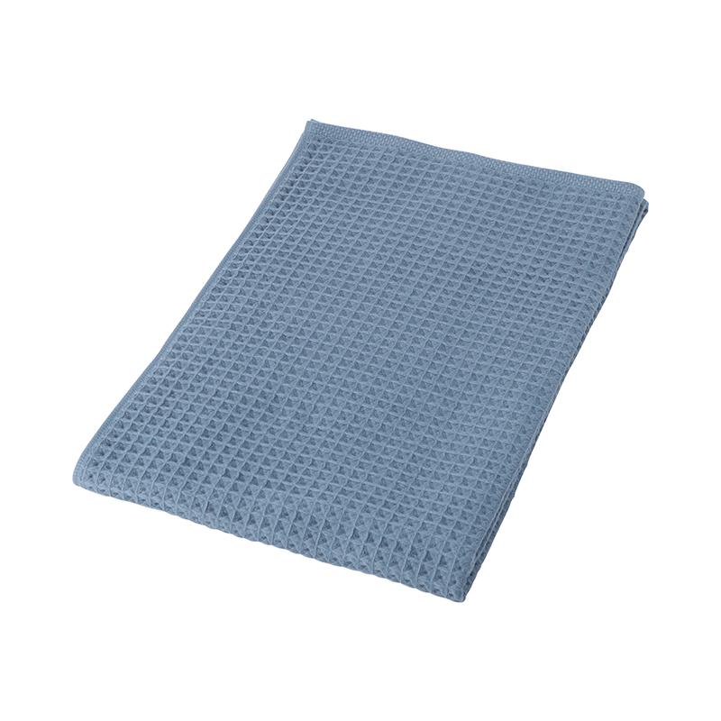 CONRAN WAFFLE&GAUZE BATH TOWEL BLUE GREY