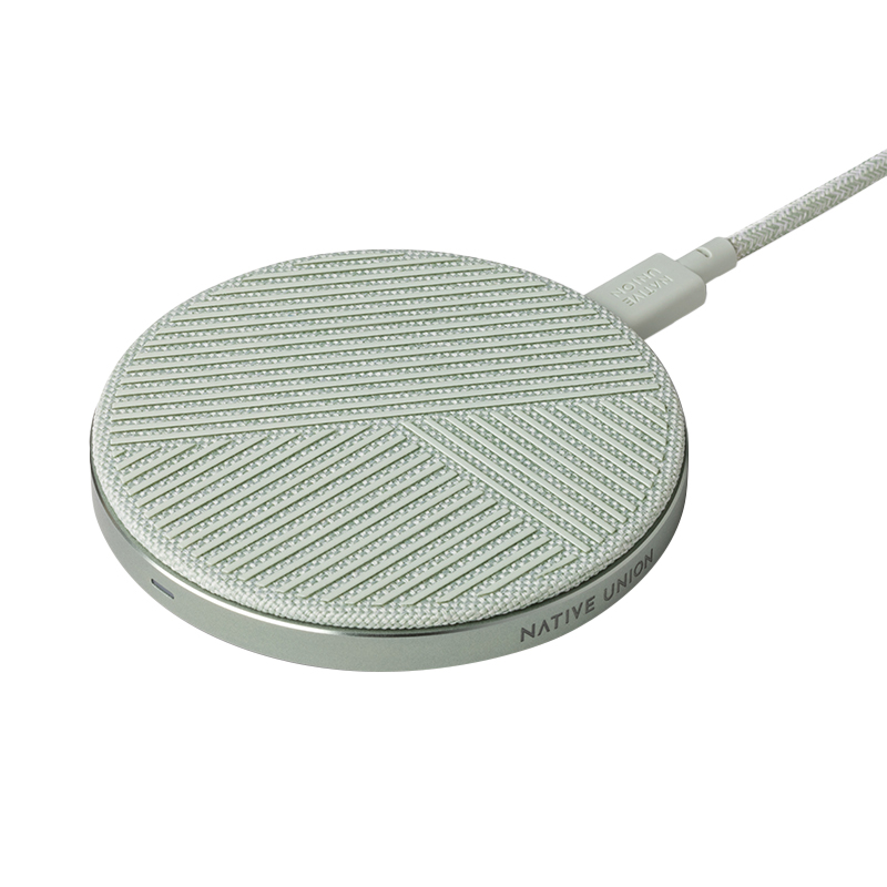 DROP WIRELESS CHARGER FABRIC SAGE