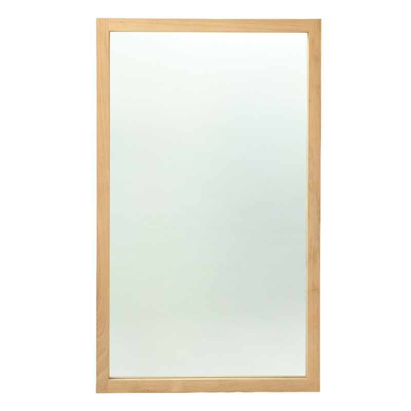 ETHNICRAFT OAK LIGHT FRAME MIRROR 1500