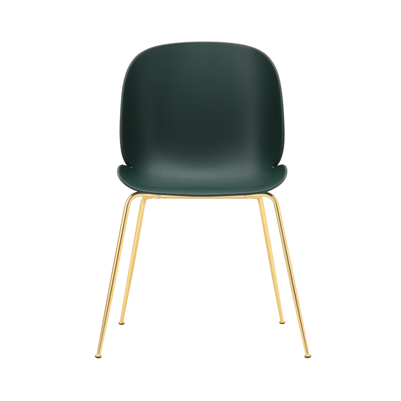 BEETLE CHAIR UNUPHOLSTERED GRN/BRASS