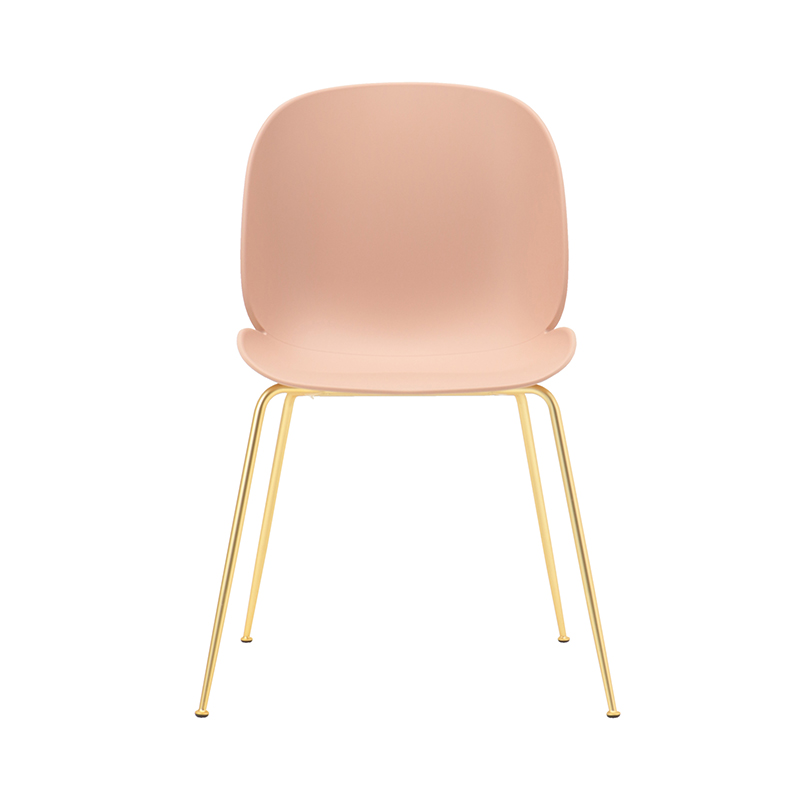 BEETLE CHAIR UNUPHOLSTERED S.PNK/BRASS