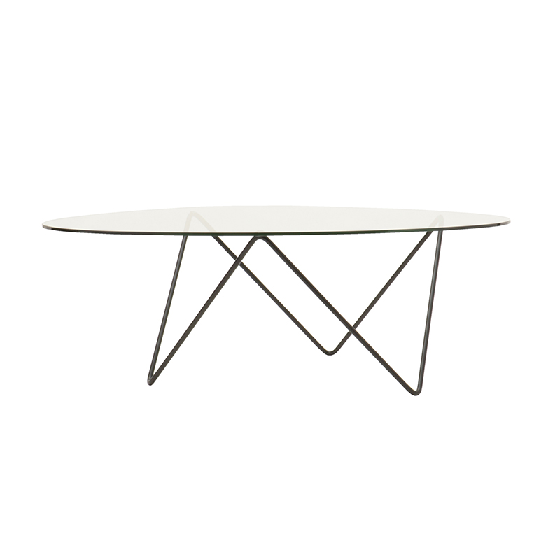 PEDRERA COFFEE TABLE CLEAR GLASS/BLK