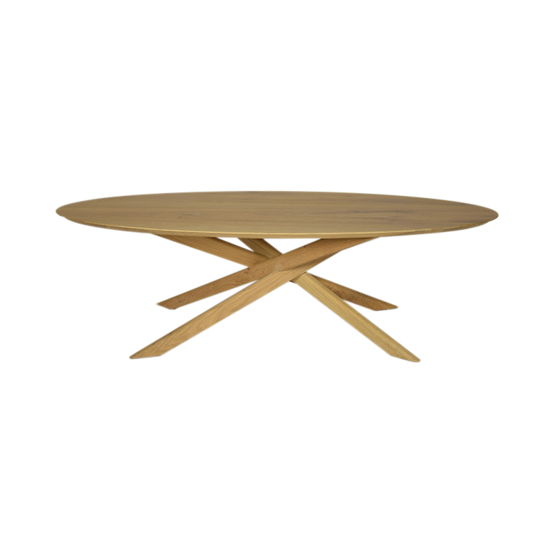 OAK MIKADO COFFEE TABLE OVAL