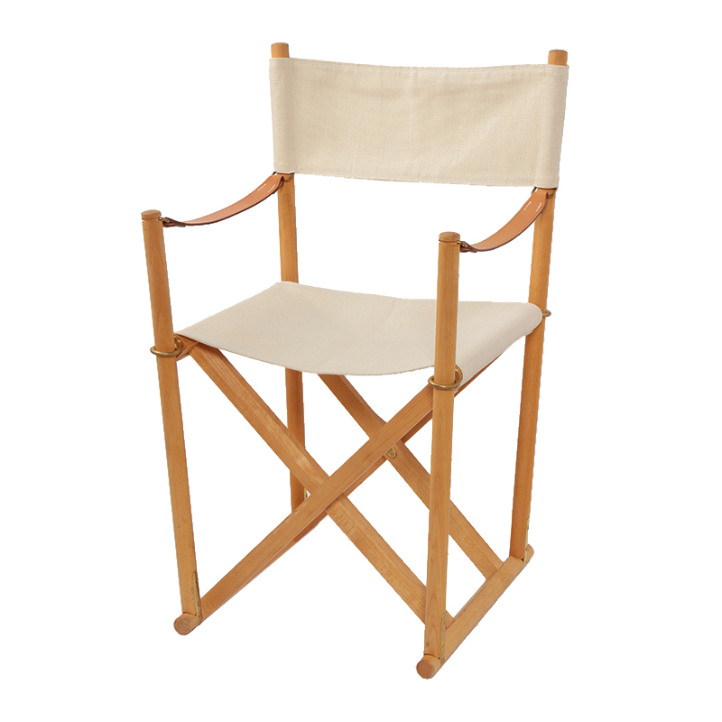 MK99200 FOLDING CHAIR BEECH OIL CANVAS