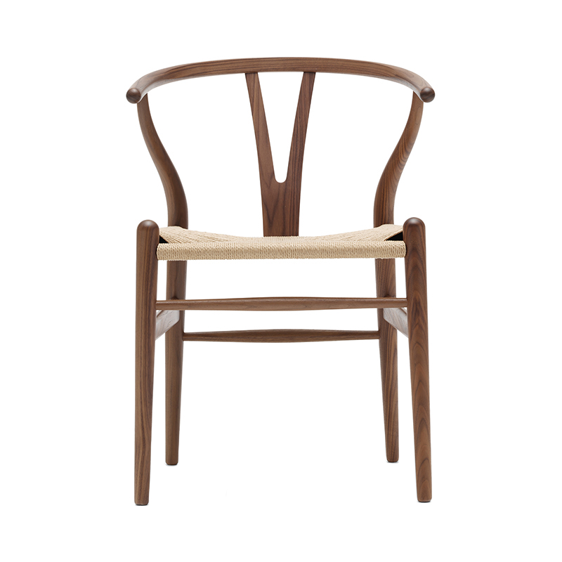 CH24 Y CHAIR WALNUT OIL NATURAL SEAT