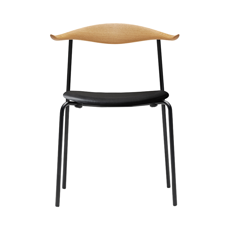 CH88P CHAIR OAK OIL THOR301 BLACK LEATHER / BLACK LEG