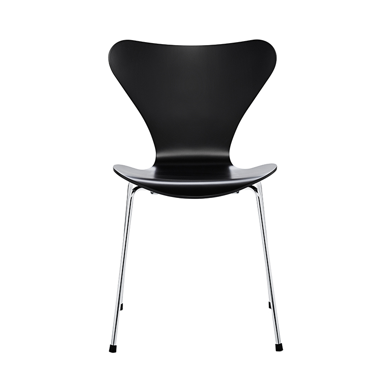 SERIES 7 CHAIR LACQUER BLACK SHEET HIGH 43