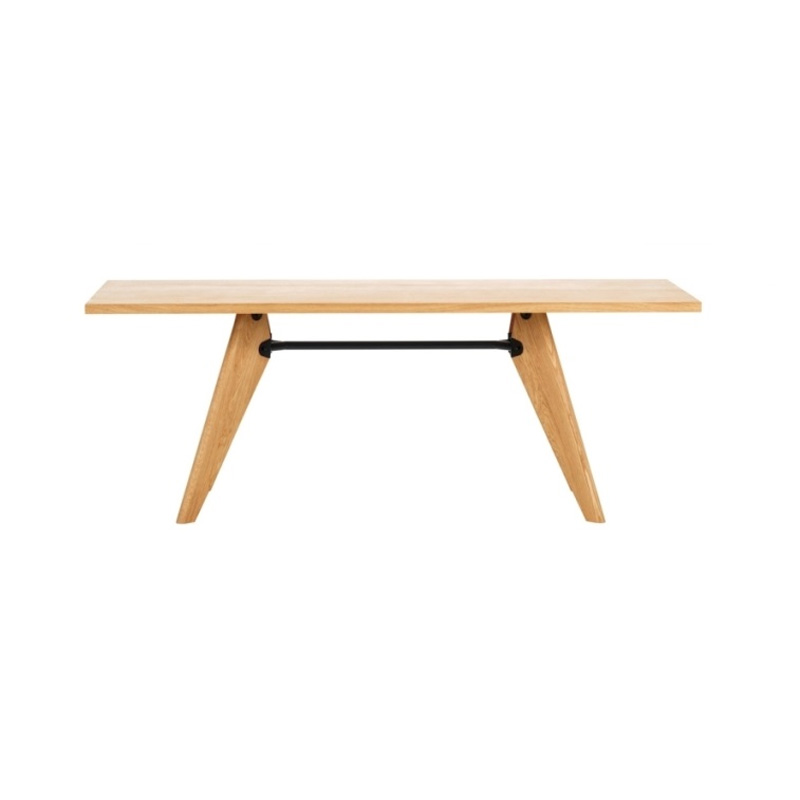TABLE SOLVAY L1800 NATURAL SOLID OAK