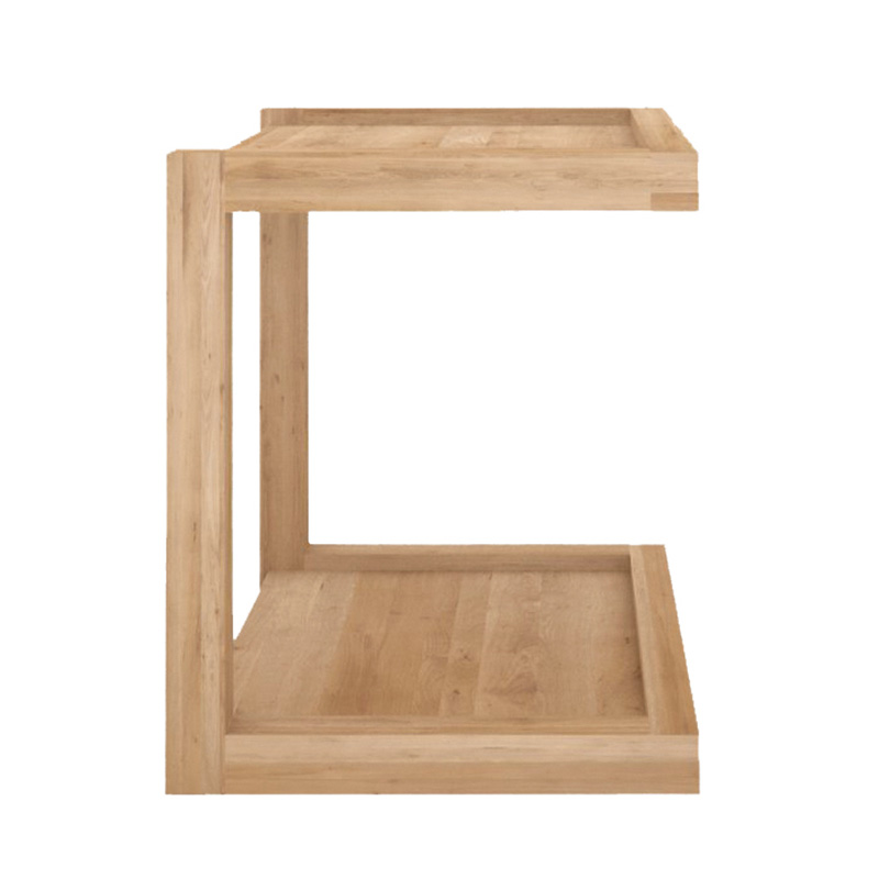 OAK FRAME SOFA SIDE TABLE