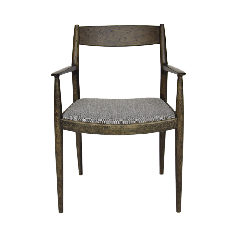 KINUTA N-DC01 ARM CHAIR SMK OAK/STLCT124