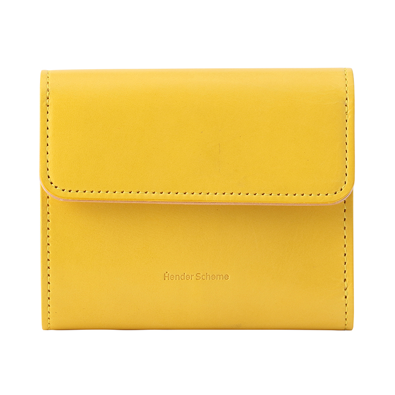 HENDER SCHEME BELLOWS WALLET YELLOW