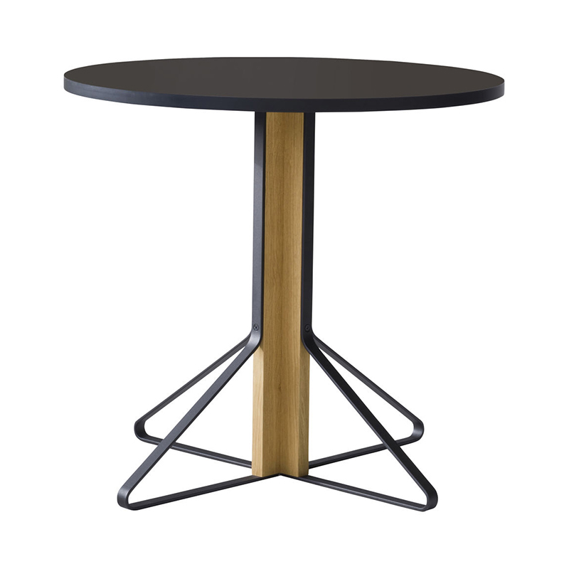 KAARI TABLE REB003 BLACK LINOLEUM NATURAL OAK