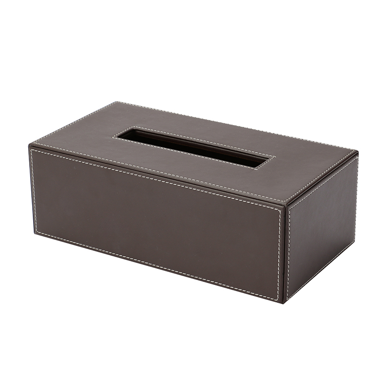DECOR WALTHER TISSUE BOX BROWN