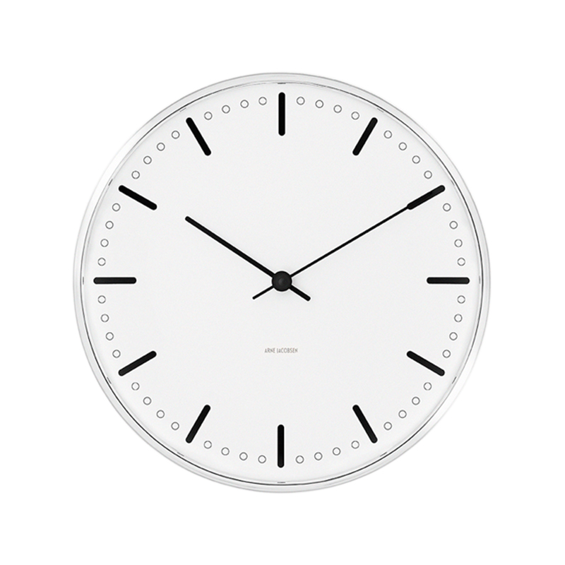 ARNE JACOBSEN WALL CLOCK CITYHALL 290MM