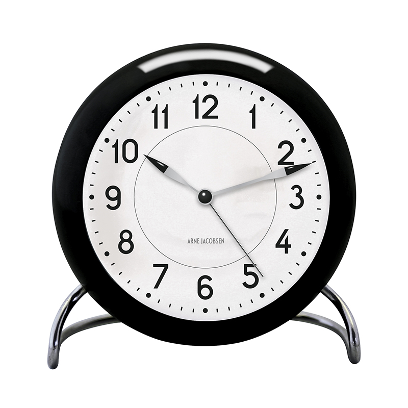 ARNE JACOBSEN TABLE CLOCK STATION BLACK