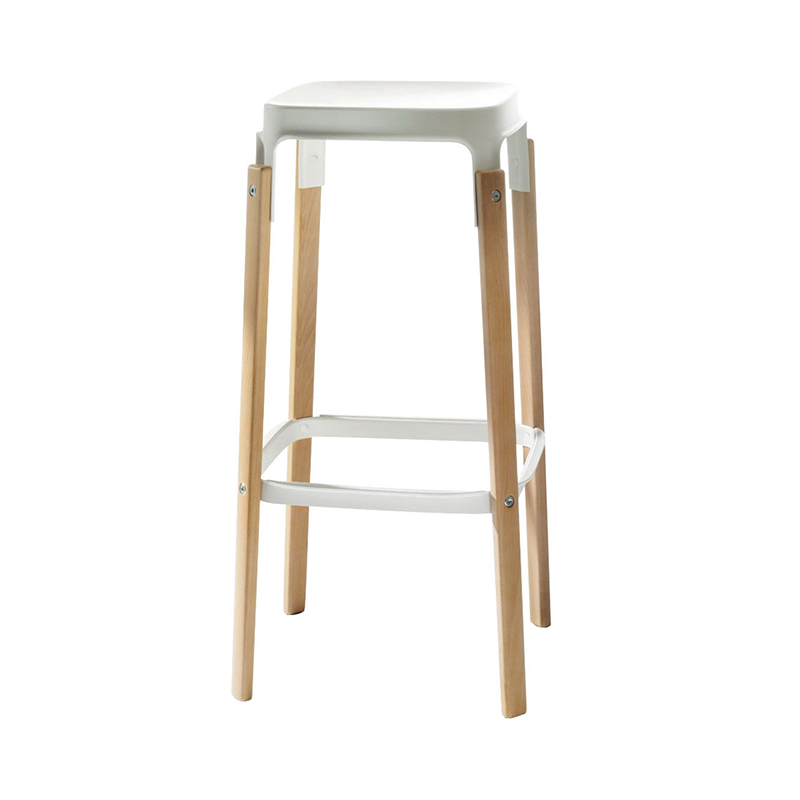 STEELWOOD STOOL BEACH/WHITE SH78