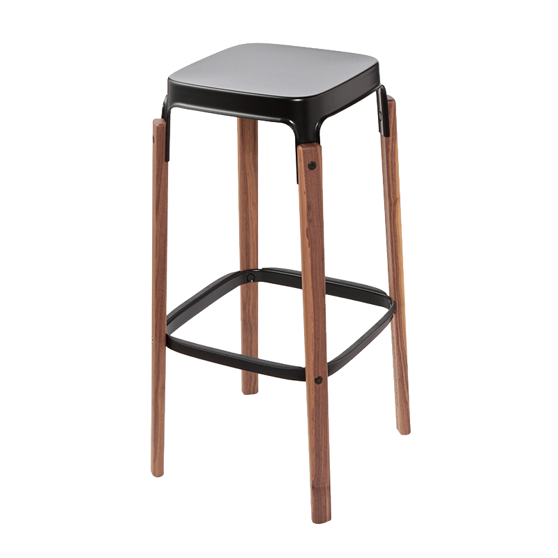 SD772 STEELWOOD STOOL H780 WALNUT / BLACK