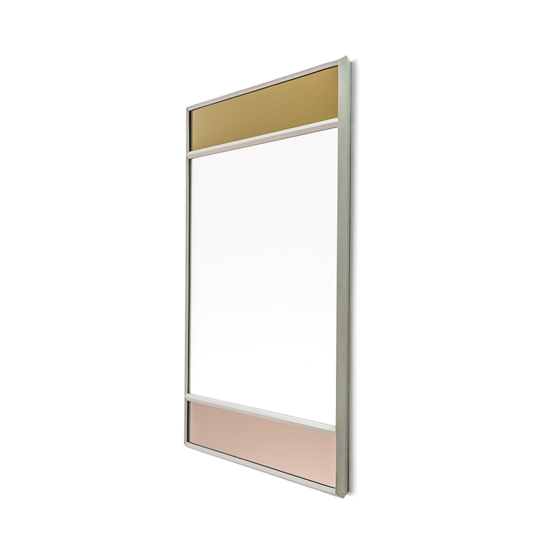VITRAIL MIRROR 50X50 LIGHT GREY FRAME
