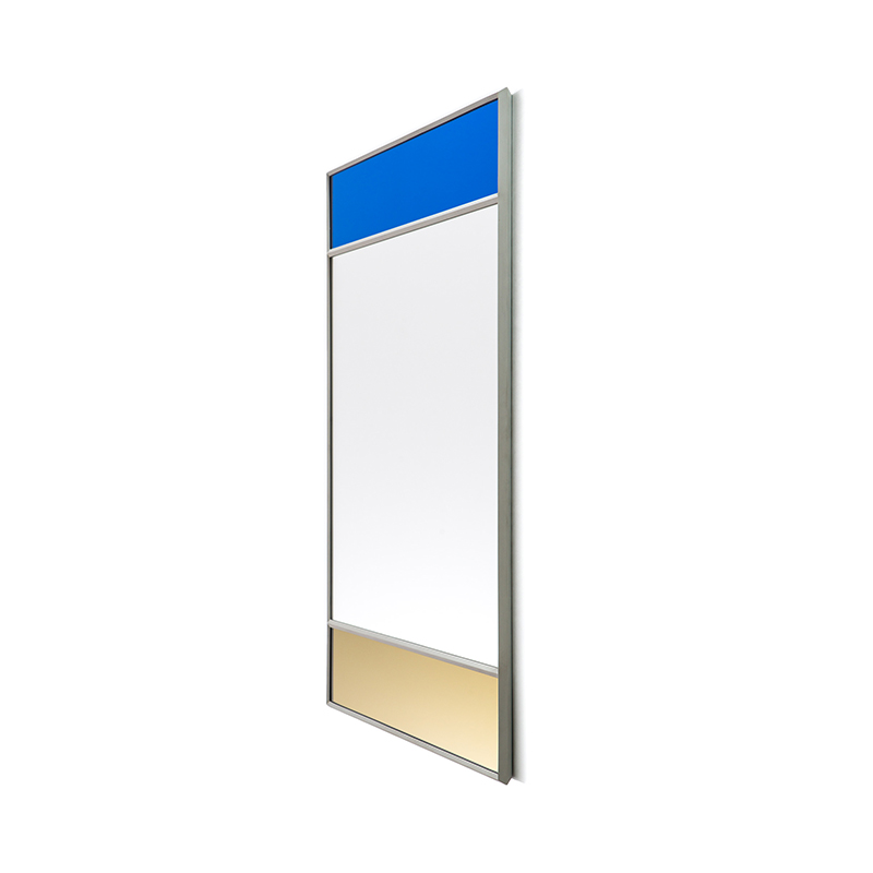VITRAIL MIRROR 50X70 LIGHT GREY FRAME