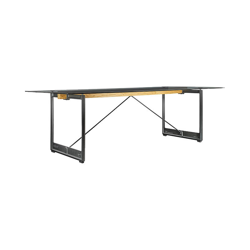 BRUT TABLE 260x85 SMOKE GLASS/GREY