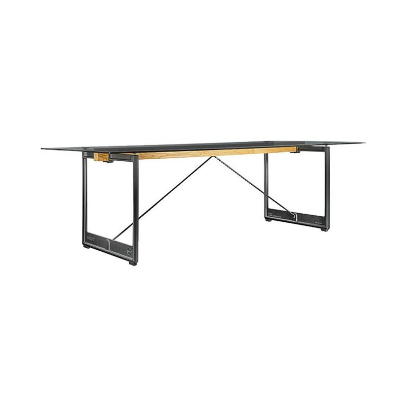 BRUT TABLE 260x85 SMOKE GLASS/GREY