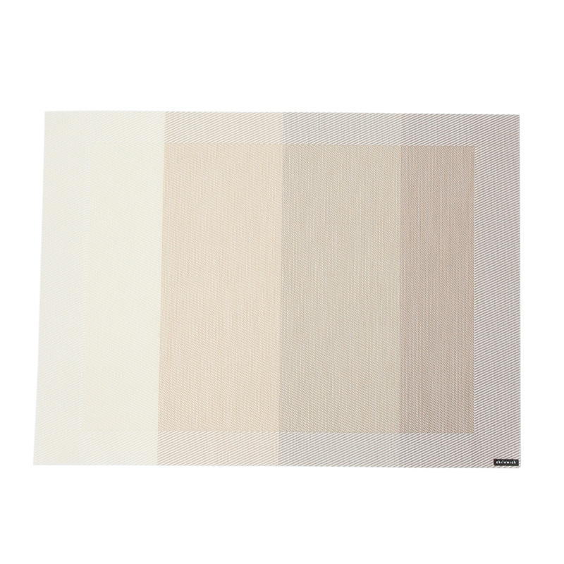 CHILEWICH COLOR TEMPO PLACEMAT IVORY 100381
