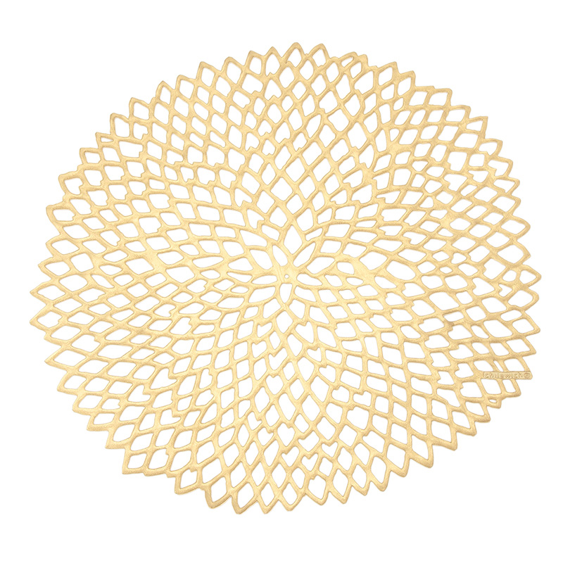 CHILEWICH DAHLIA PLACEMAT BRASS 100142
