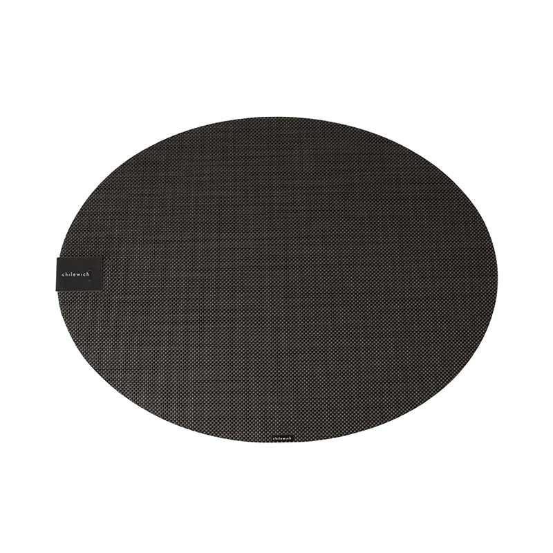 CHILEWICH MINI BASKET WEAVE OVAL PLACEMAT ESPRESSO