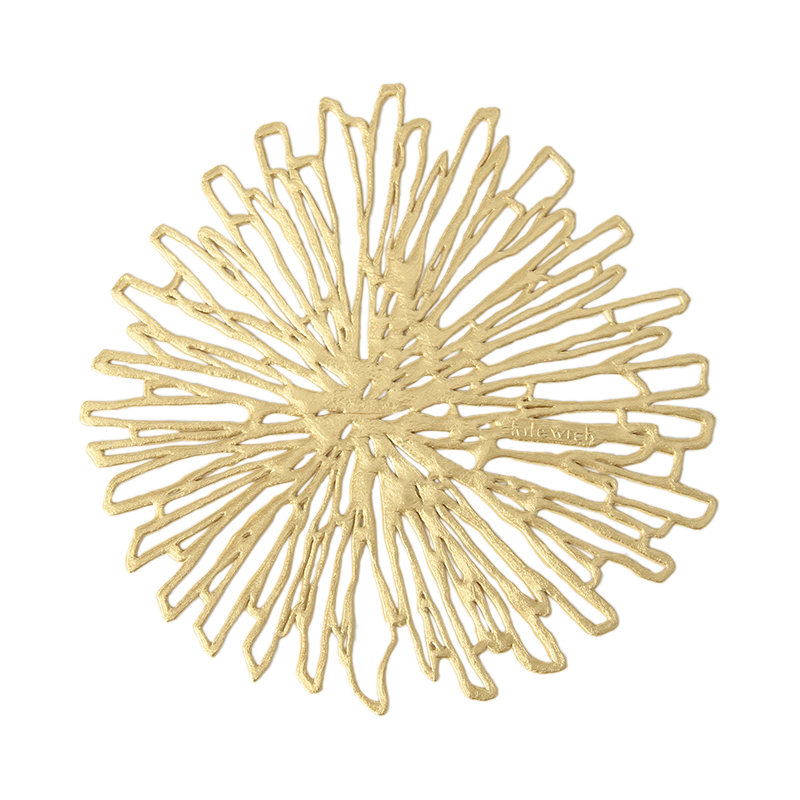 CHILEWICH BLOOM COASTER GILDED