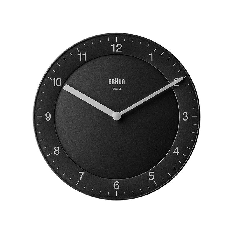 BRAUN BC06B WALL CLOCK BLACK